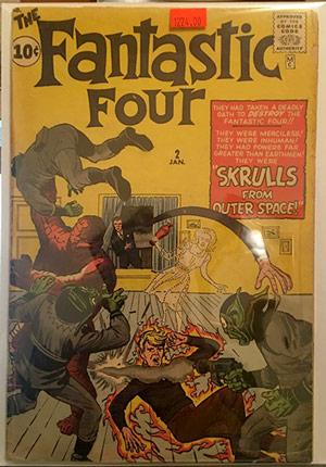Silver Age comic for sale - Fantastic Four #2 $1,250